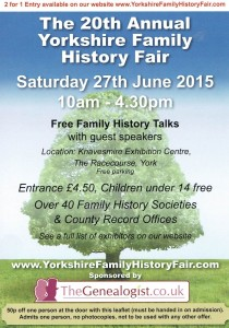 York Family history flyer