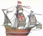 Medieval Sailing Ship, not the one Thomas was on, but gives you an idea