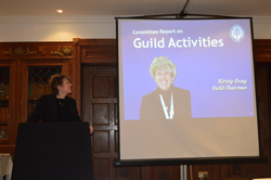 Guild Chairman Kirsty Gray at the AGM