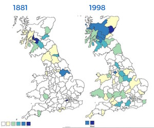 HEENAN distribution 1881 vs 1998