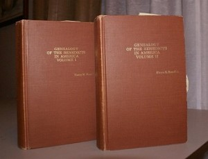 Dual volumes of Genealogy of Benedicts in America