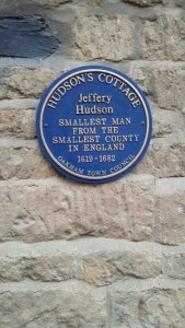 Jeffrey Hudson Blue Plaque - The Smallest man from the Smallest County