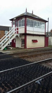 Oakham Signal Box, the template used for Horby Railway Models