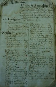 Tenants Lists Castle Sowerby Manorial Court Records 1663
