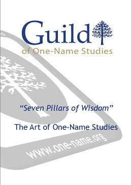 "The Art of One-Name Studies - ""Seven Pillars of Wisdom"""