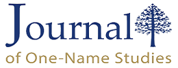 Journal of One-Name Studies